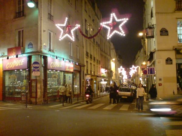 רחוב ברובע השישי ליד סן ז'רמן  בדצמבר